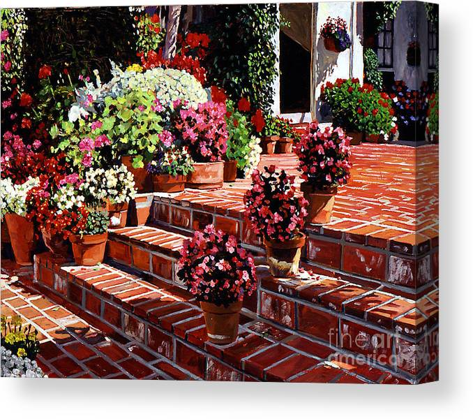 Patio Canvas Print featuring the painting Warm Patio by David Lloyd Glover
