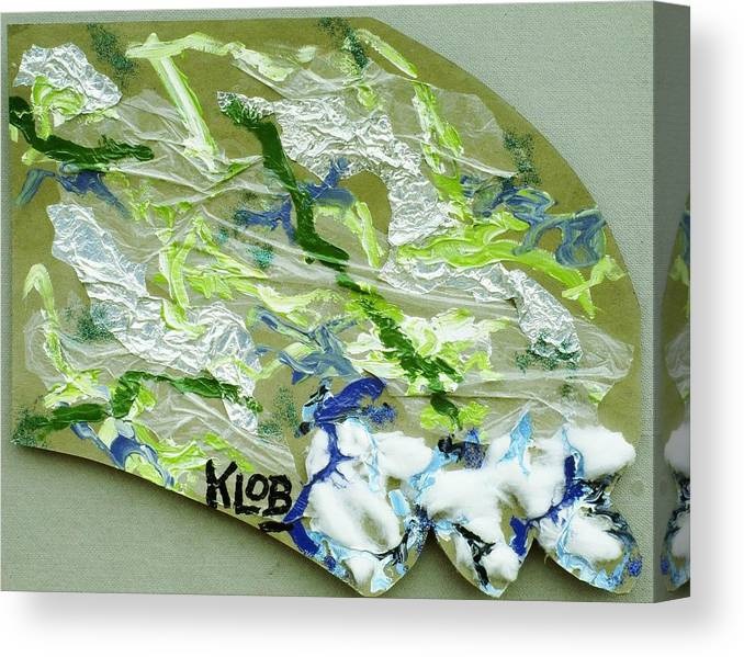 Ocean Canvas Print featuring the painting Wave by Kevin OBrien