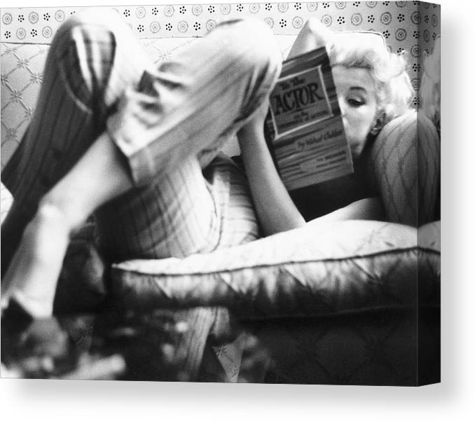 People Canvas Print featuring the photograph Marilyn Candid Moment by Michael Ochs Archives