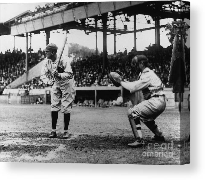 Baseball Catcher Canvas Print featuring the photograph National Baseball Hall Of Fame Library 2 by National Baseball Hall Of Fame Library