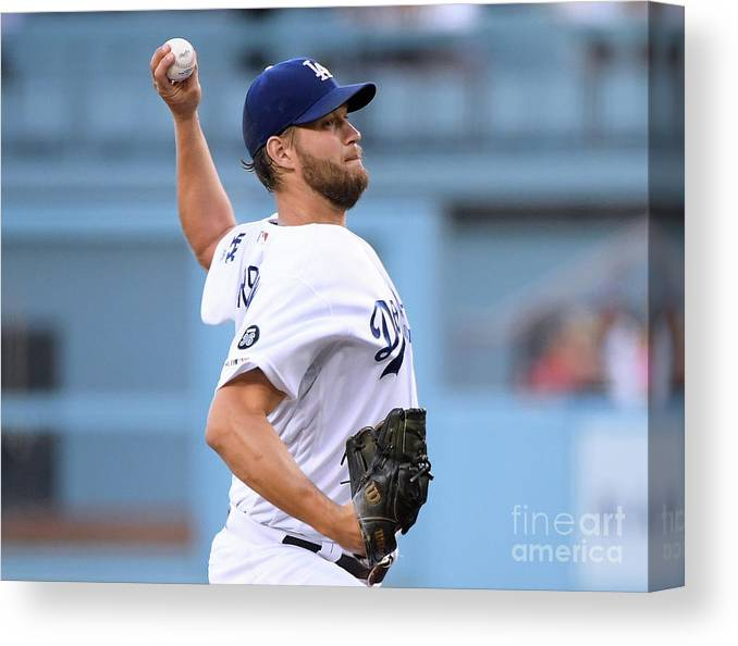 Three Quarter Length Canvas Print featuring the photograph San Diego Padres V Los Angeles Dodgers 7 by Harry How