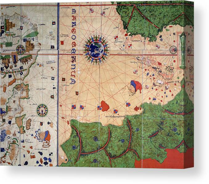 Detail Of Center Section From World Map Canvas Print Canvas Art By