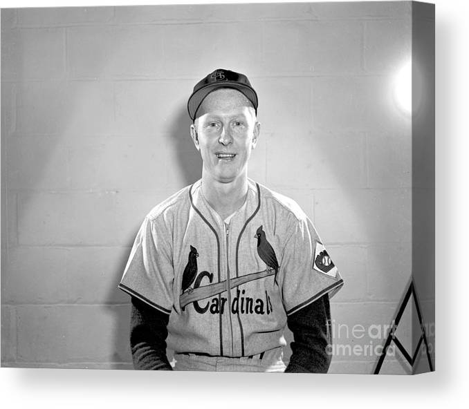 St. Louis Cardinals Canvas Print featuring the photograph St. Louis Cardinals Vs. Brooklyn Dodgers by Kidwiler Collection