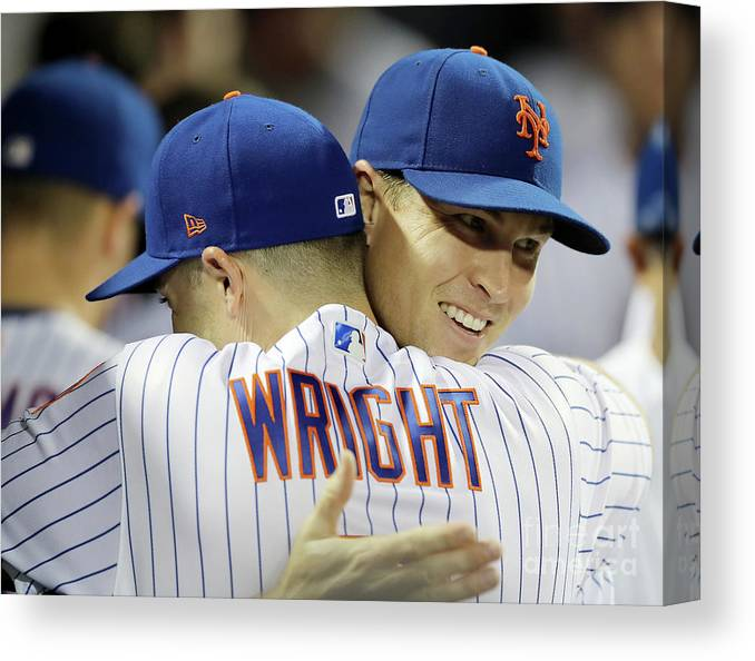 Jacob Degrom Canvas Print featuring the photograph Jacob Degrom And David Wright by Elsa