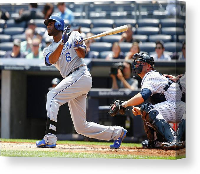 People Canvas Print featuring the photograph Lorenzo Cain by Al Bello