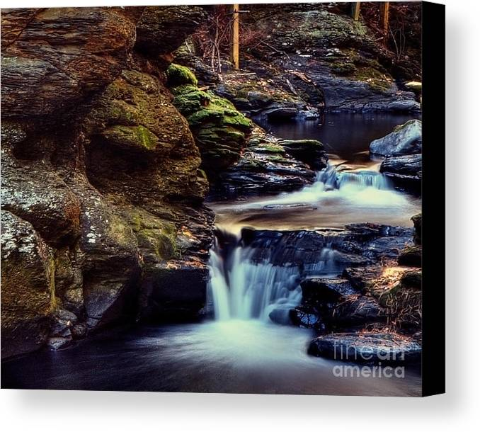 Waterfall Canvas Print featuring the photograph Bushkill Falls by Emily Kay