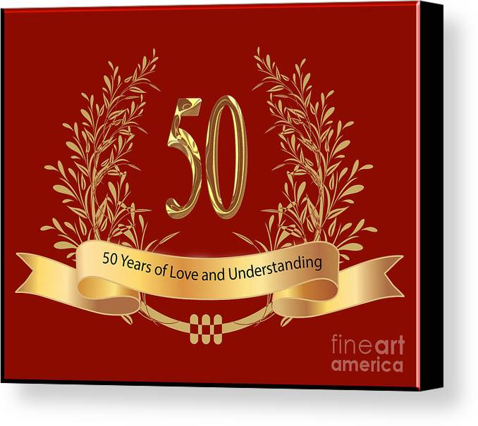 Happy 50th wedding anniversary greeting cards canvas print canvas happy 50th wedding anniversary greeting cards canvas print featuring the digital art happy 50th wedding anniversary m4hsunfo