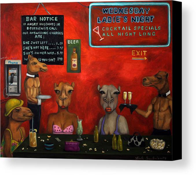 Hump Day Canvas Print featuring the painting Hump Day by Leah Saulnier The Painting Maniac