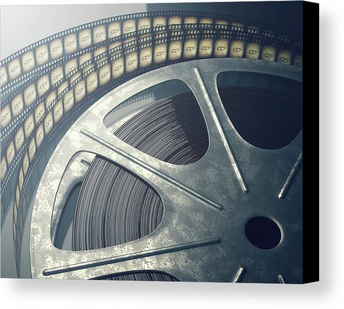 movie reel canvas print canvas art by ktsdesign