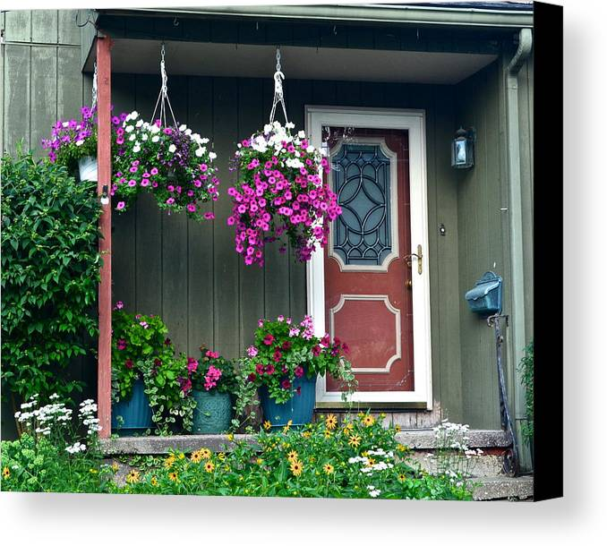 Home Canvas Print featuring the photograph Home Sweet Home by Frozen in Time Fine Art Photography
