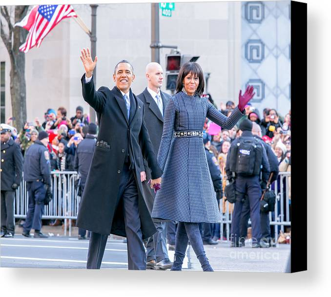 Obama Canvas Print featuring the photograph 2013 Inaugural Parade by Ava Reaves