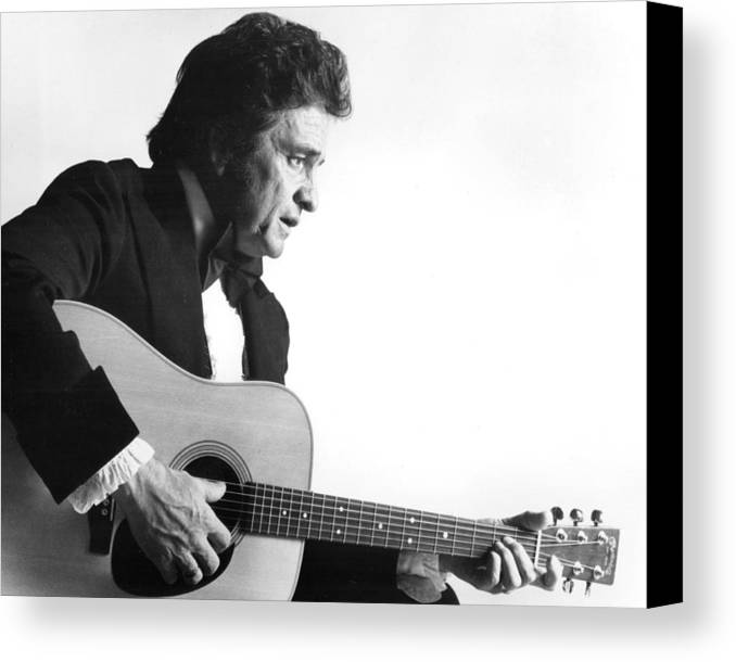 classic Canvas Print featuring the photograph Johnny Cash by Retro Images Archive