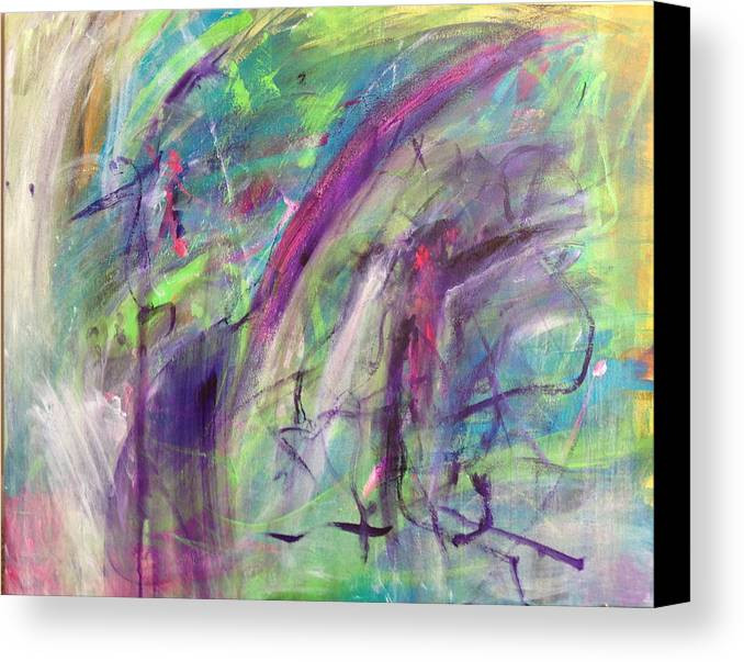 Abstract Canvas Print featuring the painting A Beautiful Mess by Ann Lauren