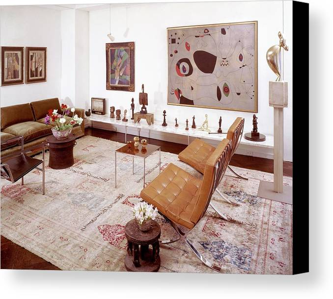 Indoors Canvas Print featuring the photograph A Living Room Full Of Art by Wiliam Grigsby