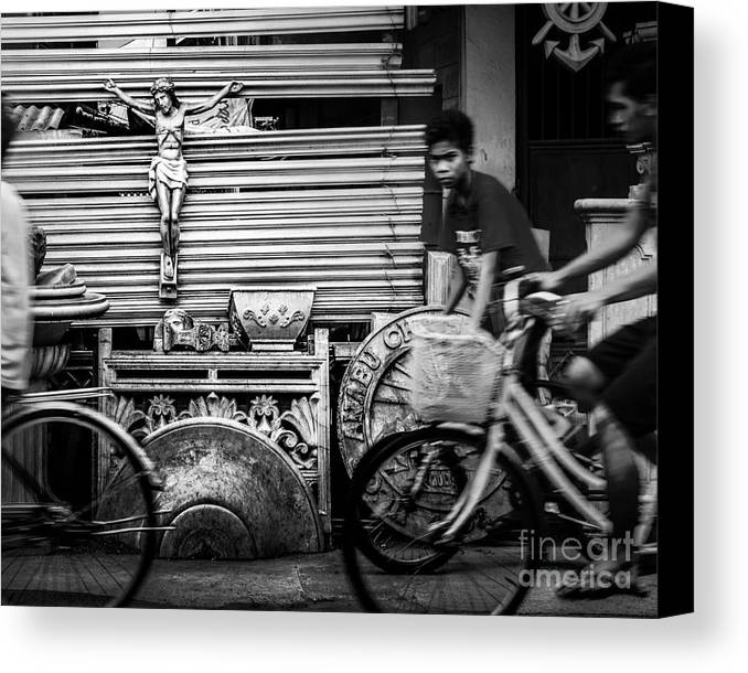 Road Canvas Print featuring the photograph Along The Road Of Life by Michael Arend