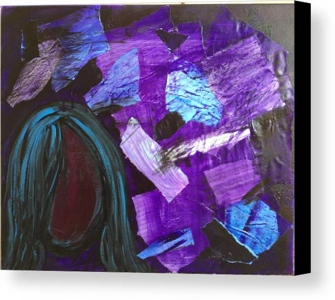 Abstract Canvas Print featuring the painting And She Set Them To The Wind by Ann Lauren