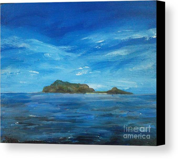 Philippines Canvas Print featuring the painting Apo Island by Richard John Holden RA