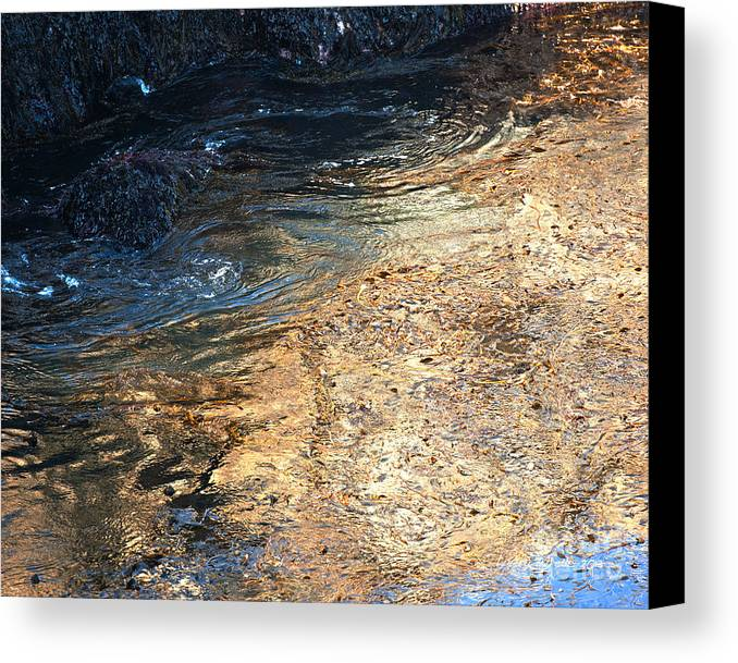 Big Sur Canvas Print featuring the photograph As The Ocean Wave Swirled It Looked Like Gold by Artist and Photographer Laura Wrede