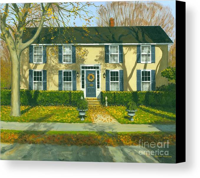 Autum Canvas Print featuring the painting Autumn Delight by Michael Swanson