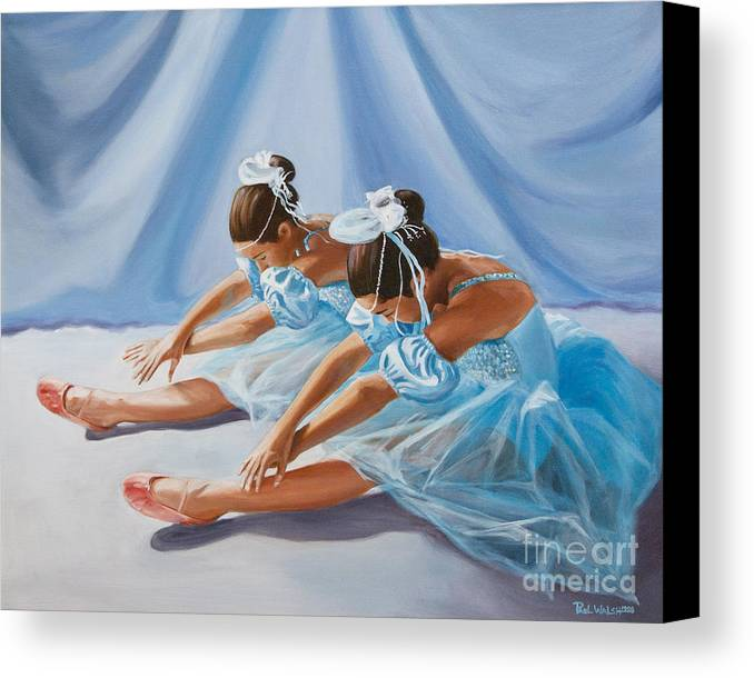 Ballet Dancers Canvas Print featuring the painting Ballet Dancers by Paul Walsh