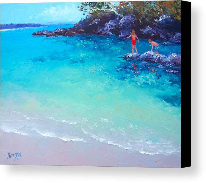 Beach Canvas Print featuring the painting Beach Painting - A Day To Remember by Jan Matson