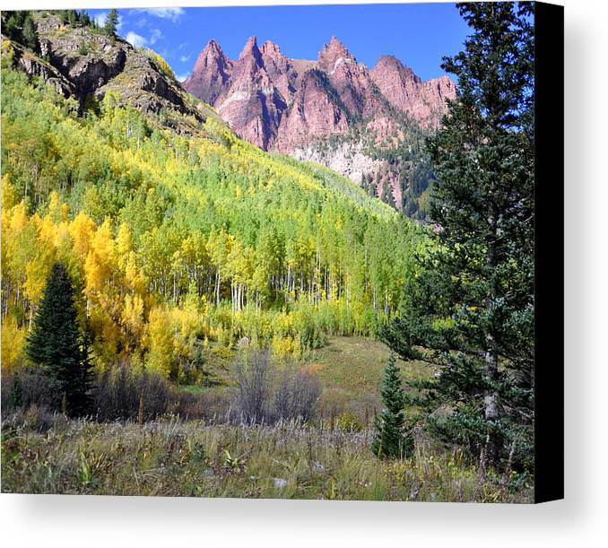 Mountain Peaks Canvas Print featuring the photograph Beauty In The Mountains by Pam Garcia