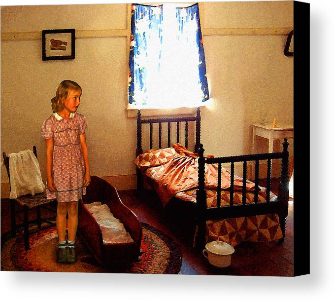 Girl Canvas Print featuring the photograph Betsy's Room by Timothy Bulone