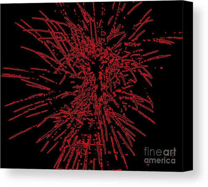 Art Canvas Print featuring the painting Big Red by Shelia Kempf