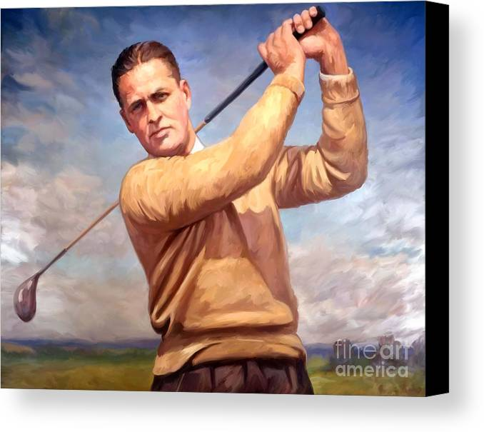 Bobby-jones Canvas Print featuring the painting bobby Jones by Tim Gilliland