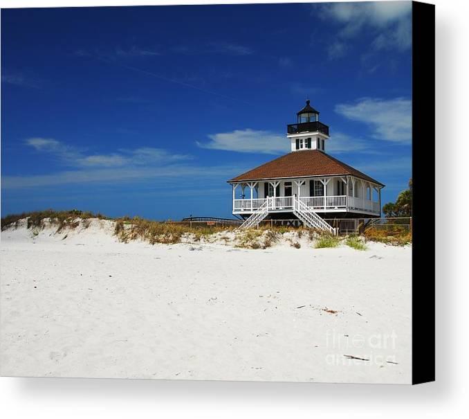 Boca Grande Lighthouse Canvas Print featuring the photograph Boca Grande Lighthouse by Mel Steinhauer