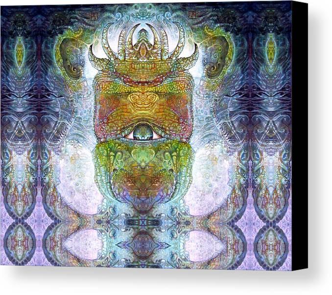 \bogomil Variations\ \otto Rapp\ \ Michael F Wolik\ Surrealism Canvas Print featuring the digital art Bogomil Variation 15 by Otto Rapp