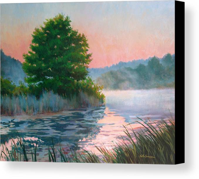 Impressionism Canvas Print featuring the painting Break Of Day by Keith Burgess