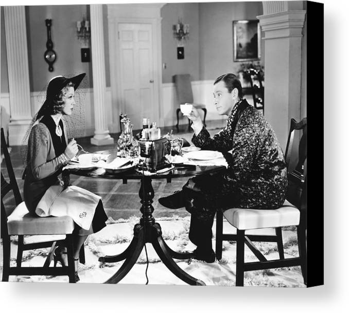1930s Movies Canvas Print featuring the photograph Breakfast For Two, From Left Glenda by Everett