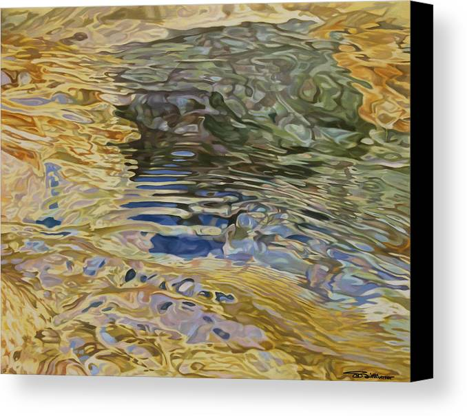 Water Canvas Print featuring the painting Calming Flow by Stephen Dittberner