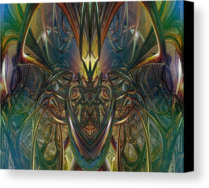 Metallic Canvas Print featuring the photograph Candle Light Abstract Phenomenon Fx by G Adam Orosco
