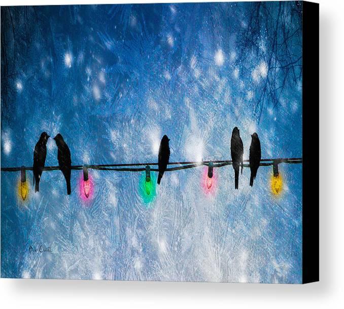 Christmas Lights Canvas Print featuring the photograph Christmas Lights by Bob Orsillo