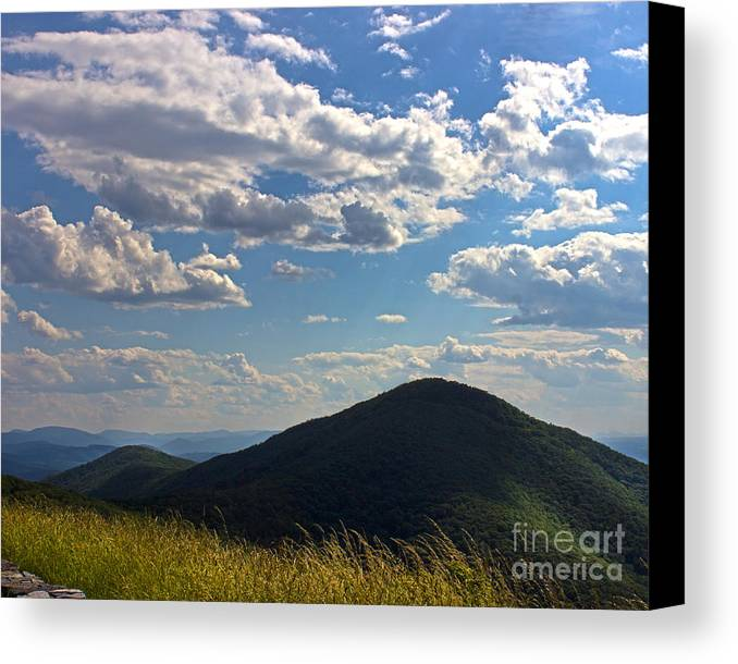 Nature Canvas Print featuring the photograph Clouds Over The Mountain by Tom Gari Gallery-Three-Photography