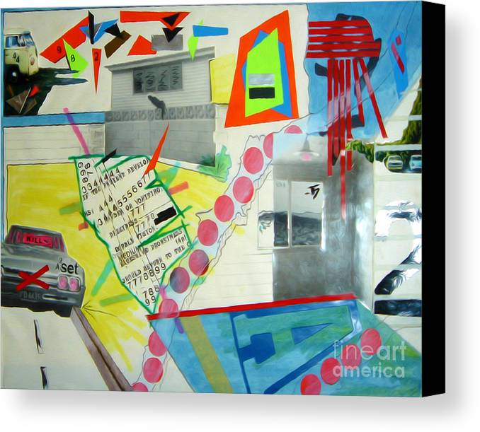 444 Canvas Print featuring the drawing Collage 444 by Bruce Stanfield
