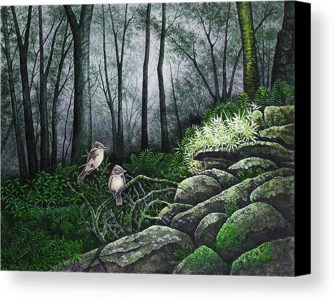 Birds Canvas Print featuring the painting Companions by Michael Frank