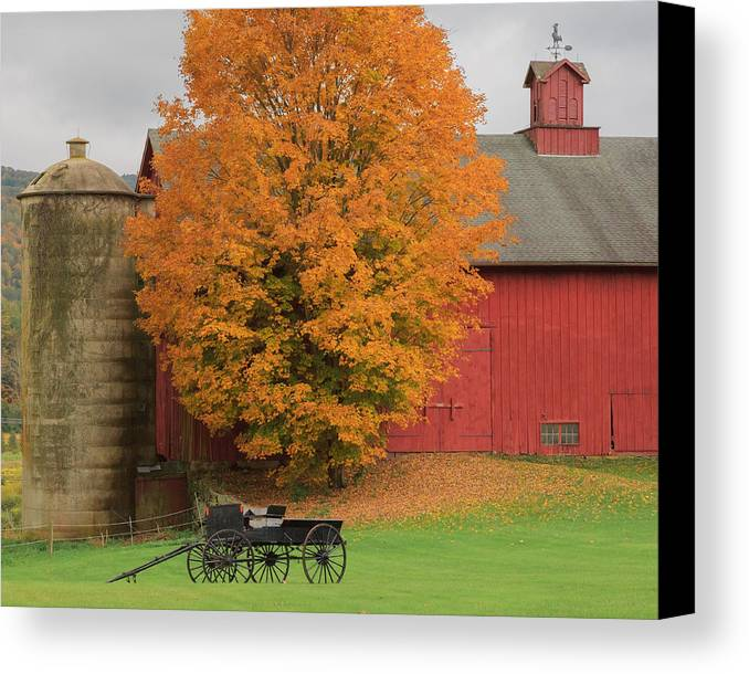 Bucolic Canvas Print featuring the photograph Country Wagon by Bill Wakeley