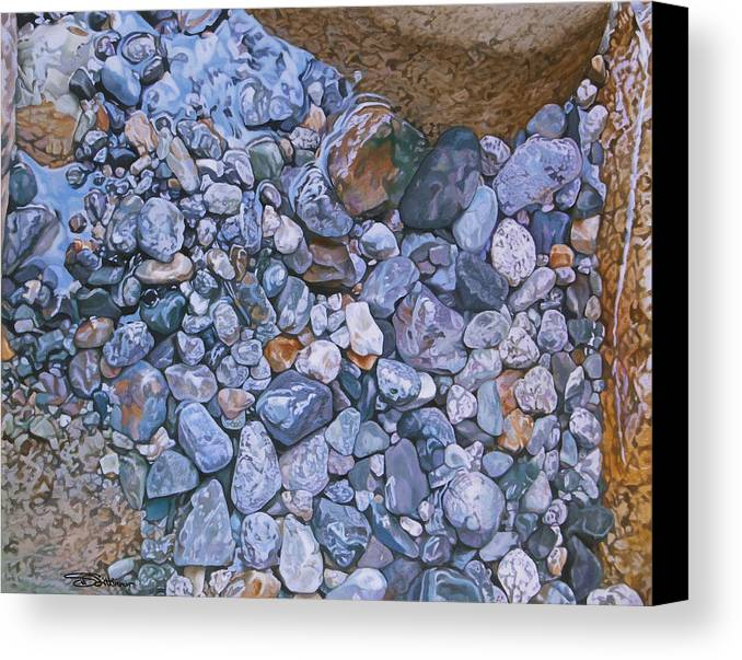 Water Canvas Print featuring the painting Crossways by Stephen Dittberner