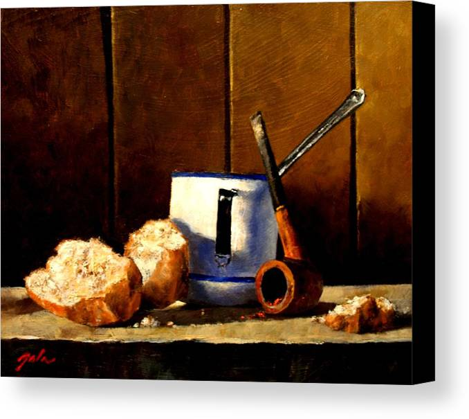 Still Life Canvas Print featuring the painting Daily Bread Ver 1 by Jim Gola