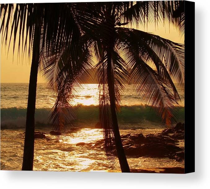 Hawaiian Canvas Print featuring the photograph Dusk by Athala Carole Bruckner