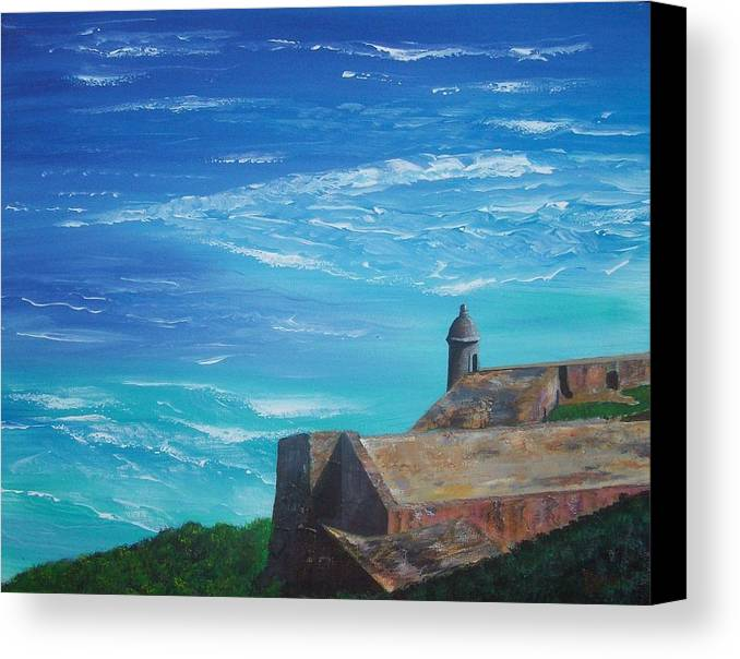 El Morro Ii Canvas Print featuring the painting El Morro II by Tony Rodriguez