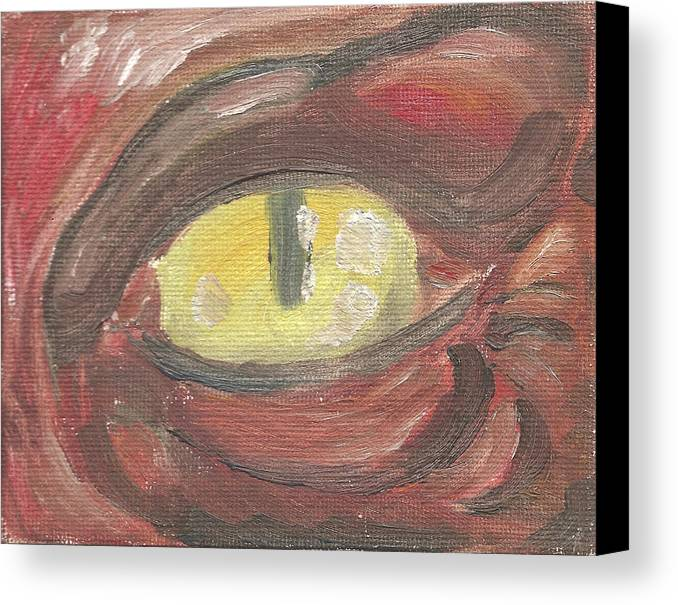 Eye Canvas Print featuring the painting Evil Eye by Jeffrey Oleniacz