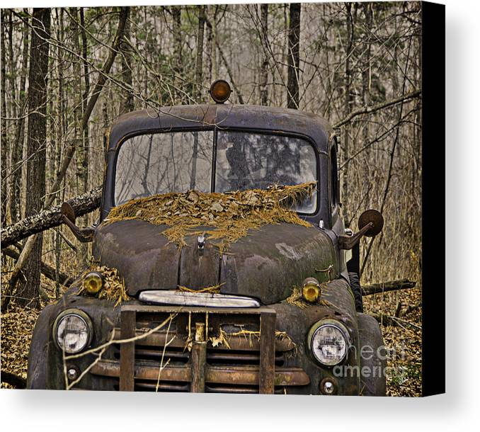 Maine Canvas Print featuring the photograph Farmers Old Work Truck by Alana Ranney
