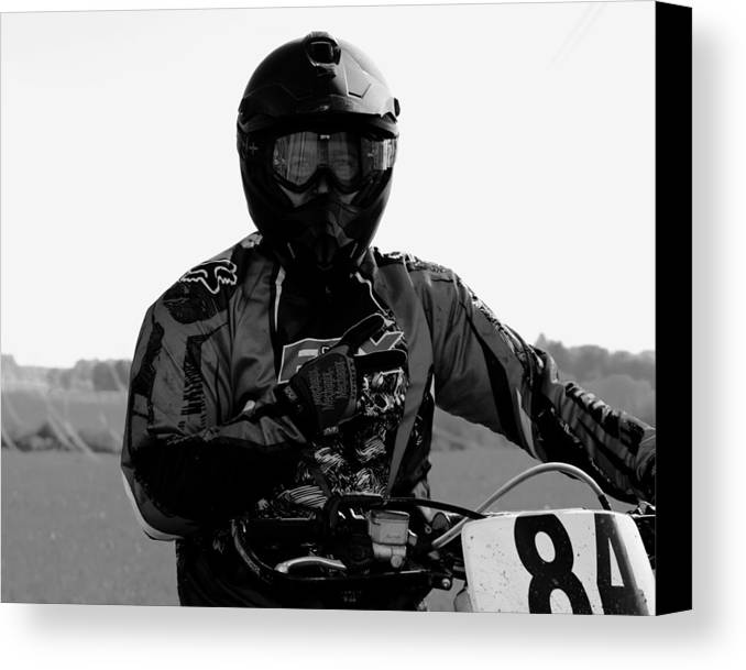 Dirt Bike Canvas Print featuring the photograph First Place by Jessi Boise