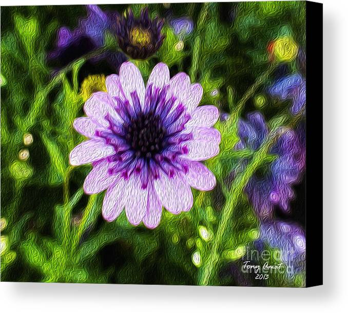 Flower Canvas Print featuring the digital art Flower 41 by Tony Amat