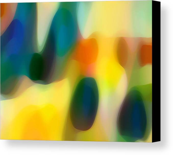 Fury Canvas Print featuring the painting Fury Rain 2 by Amy Vangsgard