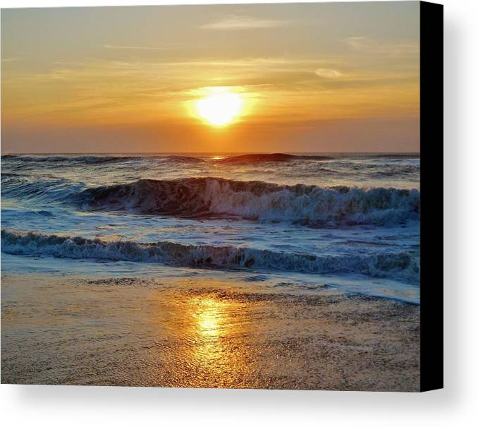 Mark Lemmon Cape Hatteras Nc The Outer Banks Photographer Subjects From Sunrise Canvas Print featuring the photograph Hatteras Island Sunrise 9 8/28 by Mark Lemmon